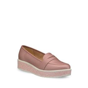 Flat Loafer Mujer Rosa Suela Con Glitter 2605500
