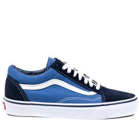 Zapatillas Vans Old Skool Azul Hombre Originales 6a62c1a2e2e