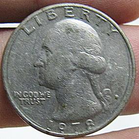 Moeda Antiga Quarter Dollar Liberty 1978 Usa