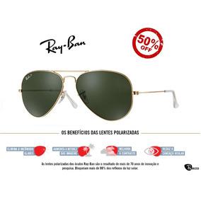 Óculos Ray Ban 3025 3026 Dourado Com Lente Azul Degrade - Óculos no ... cb32fd025a