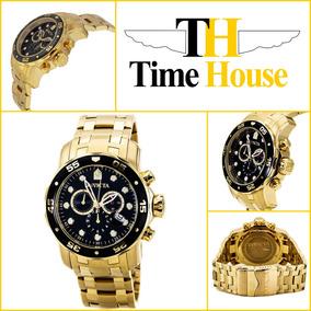 07b45f5ced0 Relógio Invicta 0072 Pro Diver Banhado A Ouro 18k - Relógios no ...