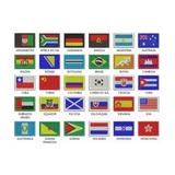 Matrizes Para Bordados De Bandeiras Internacionais Em Pes
