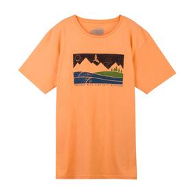 Estampado Remera - Remeras Manga Corta de Hombre Naranja en Mercado ... 14db95b00688b