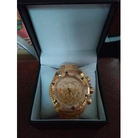 Invicta Banhado A Ouro 18 K Ref 6410