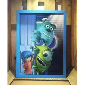 Poster Monstros S.a. Disney Pixar Quadro Decorativo