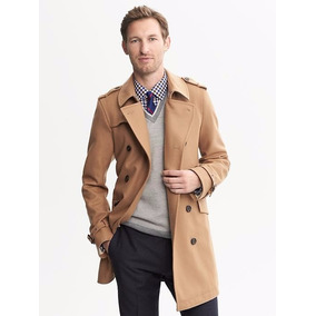 Gabardina Trench Coat Banana Republic Talla M De Lana