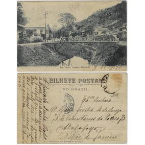 Rio De Janeiro 1907 Cartão Postal R. Carlos Gomes Petrópolis