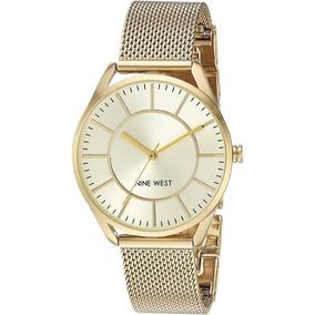 Nine West Goldtone Dorado Reloj De Pulsera Con Envío Gratis