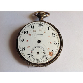 ec5a83cea2d Relogio De Bolso Antigo Prata 0.800 - Relógios no Mercado Livre Brasil