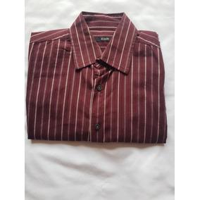 Oferta Camisa Alfani Hombre Color Vino S Chica