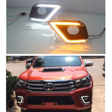 Biseles Led Drl Direcconal Toyota Hilux 2016 2017 2018 2019