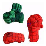Par Luva Infantil Espuma Homem Aranha Ou Hulk Vingadores Box