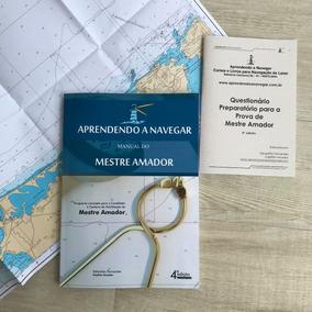 Livro Mestre Amador + Questionário E Carta Náutica