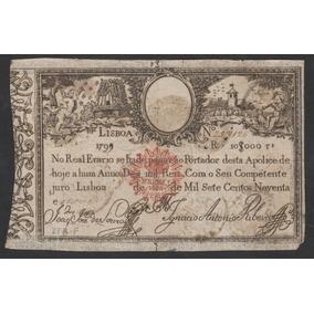 2919 - Portugal 10000 Réis 1826 Bc/mbc