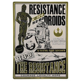 Poster Placa Decorativa Resistance Droids Star Wars