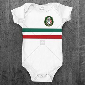 4890e4db5e Body Seleção Mexicana México Personalizado C  Nome Do Bebê