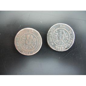2.- Antiguas Monedas Octavo De Real 1851, 1851/2 Durango