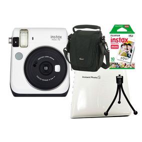 Câmera Instant. Fujifilm Instax Mini 70 + 4 Acess. - Branca