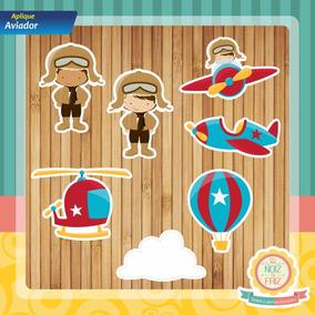 a02796d3d4c86 Aplique Aviador - Artesanato no Mercado Livre Brasil