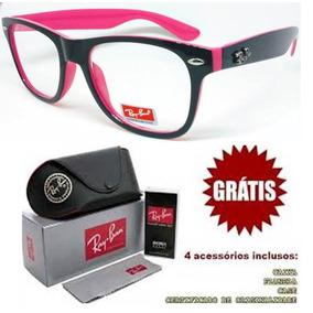 62a2c377f3122 Oculos De Grau Feminino Rayban Rosa - Óculos no Mercado Livre Brasil