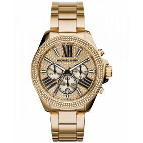 70ba73e43d3cc Relógio Michael Kors Mk5444 Acetato Transparente Ouro Rose ...