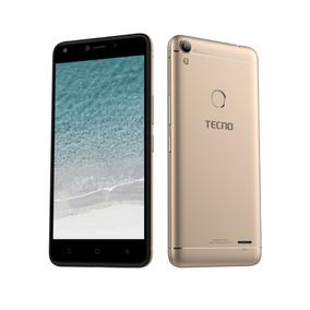 Celular Libre Tecno Wx4pro Dorado 8mp 2gb 4g + Screen & Case