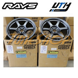 Rines Rays 57dr 17x9 38 5x100 Gun Blue Brz Wrx Outback Tc