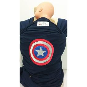 Wrap Sling Bordado Tema Capitão América