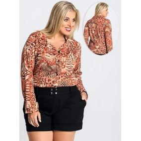 Camisa Plus Size Feminina Tigre / Roupa G Gg Xxg Xlg