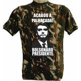 Camiseta Política Camuflada Bolsonaro