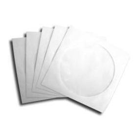 1000 Envelopes Branco Capa Cd / Dvd Com Janela Transparente