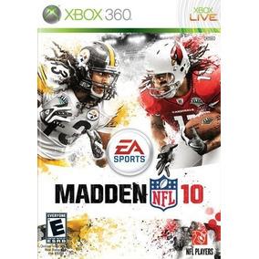 Jogo Madden Nfl 10 Xbox 360 X360 Mídia Física Esporte Game