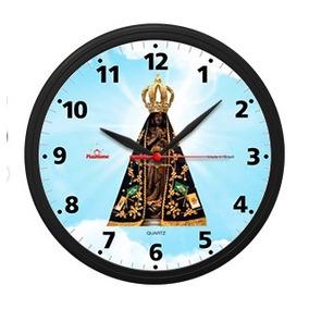 a88530bd9b5 Relógio De Parede Redondo Nossa Senhora Aparecida Quartz