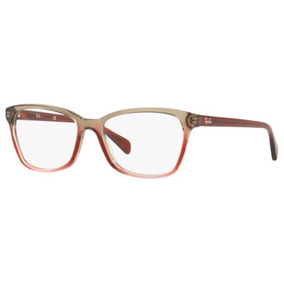 d1e859355e0e5 Armaçâo Oculos Grau Ray Ban Rb5362 5835 54 Bordô Degradê