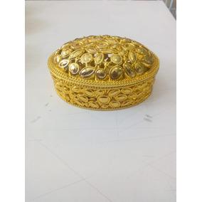 50 Porta Joia Oval Dourado Lembrancinhas De Festa