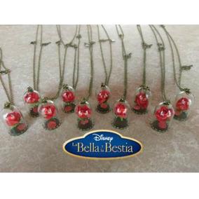 Lote 10 Collares Rosa De La Bella Y La Bestia