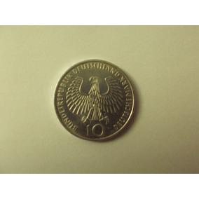Moeda Rara Alemanha 10 Marcos 1972 - Jogos Olímpicos - Prata