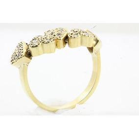 Anel Coração Movimento Ouro 18k Diamantes