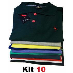 Kit 10 Camisas Polo Masculina Camiseta Blusa De Luxo Ataca