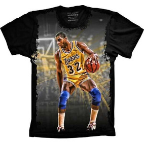 570494060 Camiseta Preta Los Angeles Lakers Manga Curta - Camisetas e Blusas ...