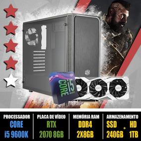 Computador Gamer Core I5 9600k + Rtx 2070 8gb + Ssd 240gb