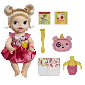 Boneca Baby Alive Hora De Comer Loira Fala Hasbro A7022