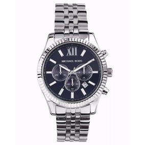 6078cd3ff9da7 Relogio G5339 Michael Kors Mk6099 Azul Prata Garantia - Relógios De ...