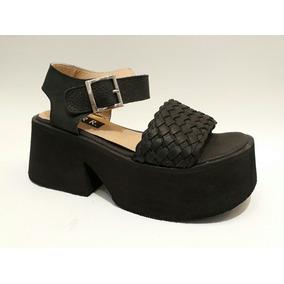 Sandalias Trenzadas De Goma Eva - 2140gu -morr Zapatos