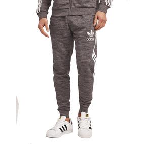 Conjunto adidas Campera Mas Pantalon Gris Negro Plateado
