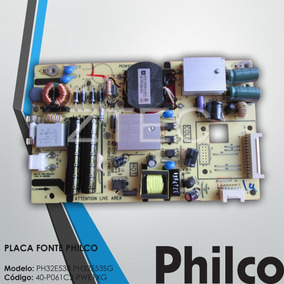 Placa Fonte Philco Mod Ph32e538 Ph32e53sg 40-p061c2-pwe1xg