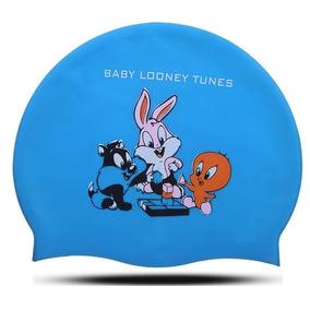 Gorras Para Natación Infantil Modelo Baby Looney Tunes Azul 8abd23dfc86