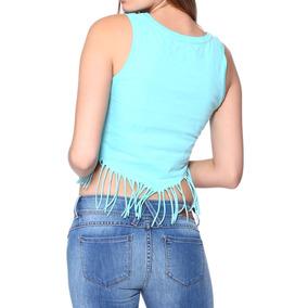 Blusa Playera Flecos Sexy Jeans Casual C279