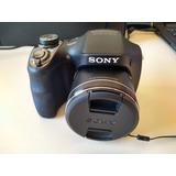 Câmera Semi Profissional Usada Dsc-h300 20.1 Mp Zoom 35x