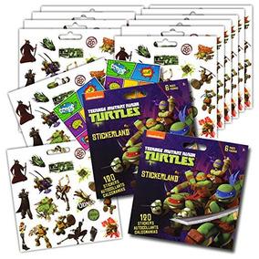 Las Tortugas Ninja Partido Pegatinas Favores - Paquete De 12
